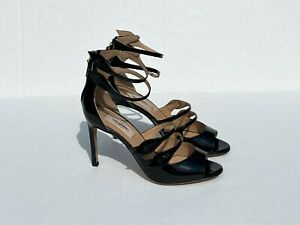 Valentino Garavani Button-Strap Patent Leather Sandals