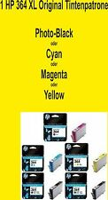 1 Original HP 364 XL Foto-Black Cyan Magenta Yellow 364XL