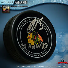 "Artemi Panarin Autographed Chicago Black Hawks  ""GO HAWKS""    Official Game Puck"