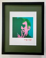 ANDY WARHOL VIBRANT 1984 SIGNED SELF PORTRAIT PRINT MATTED TO BE FRAMED AT11X14