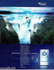 PUBLICITE ADVERTISING 096  2003  Whirlpool  lave linge machine à laver