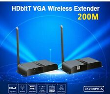 Up to 200M/656Ft, New Wireless HDbitT VGA  Extender Over IP Converter With Audio