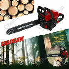 "20""Gas Chainsaw 58cc Wood Cuttiing Crankcase Gasoline Metal Chain Saw Black+Red"
