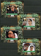Chad 2018 MNH Prince Harry & Meghan Royal Wedding 4x 1v Deluxe SS Royalty Stamps