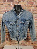 Levi's Authentic Trucker Farm Work Denim Blue Jean Jacket Coat Youth Size Large