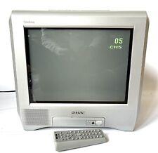 Retro 2003 SONY TRINITRON Flat Screen CRT Gaming TV 14 inch Remote KV-14CT1U