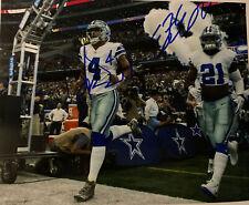 Ezekiel Elliott Dak Prescott Dallas Cowboys Signed 8x10 Photo COA