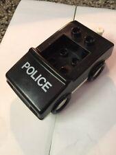 Vintage LEGO DUPLO Cop Police Car VEHICLE Black White Toy