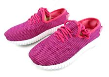 Women Slip On Mesh Casual Comfort Athletic Walking Shoes Fuchsia Size 7