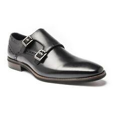 SOLE Mens Royce Monk Shoes Black