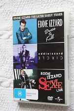Eddie Izzard The Later Early Years (DVD 3-Disc) R-4, Like new, free Shipping