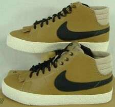New Womens 10 NIKE Blazer Mid LR Brown Leather Skate Shoes $90 511242-201
