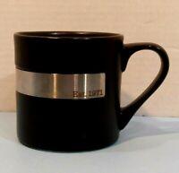 Rare Starbucks Est 1971 Black Stainless Steel Cup Mug 14 Ounce