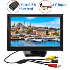 Mini 5 inch LCD CCTV Security Monitor Screen Micro USB Power AV Input 16:9 New