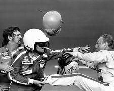 1979 Daytona 500 CALE YARBOROUGH fights BOBBY ALLISON Glossy 8x10 Photo Poster