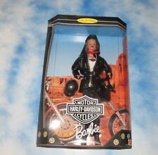 Mattel Barbie Harley Davidson Barbie Doll Mint In Very Nice Factory Sealed Box