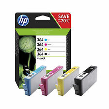 4 ORIGINALI CARTUCCE HP 364 N9J73AE PER HP PhotoSmart Plus B209b B209c