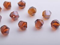30pcs 10mm Twist Helix Crystal Glass Finding Loose Spacer Beads Smoked Topaz