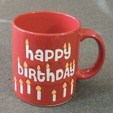 Waechtersbach Germany Ceramic Red Happy Birthday Coffee Tea Cup Mug EUC