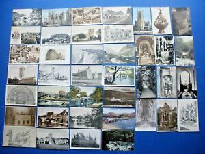 COLLECTION 40 OLD VINTAGE UK POSTCARDS  ASSORTED TOPOGRAPHICAL JOB BULK LOT (2)