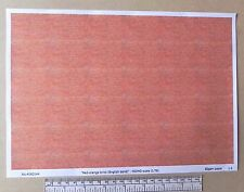 "OO/HO gauge (1:76 scale) ""red-orange brick"" -  paper - A4 sheet"