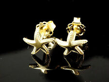585 er Gelbgold Seestern Ohrstecker 1 Paar 14 Karat Gold