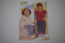 "Knitting Pattern Loweth Child's Aran Cardigan & Waistcoat 20 - 26"" 7044"