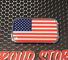 """USA America Domed CHROME Emblem Proud USA 'Merica Flag Car sticker 3D 3""""x 1.8"""""""