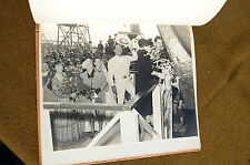 1942 Liberty Ship FELIPE DE NEVE Launching CUSTOM PHOTO ALBUM Leo Carrillo WW2