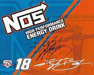 2016 Kyle Busch NOS Energy Drink #18 NASCAR Signed Auto 8x10 Post Hero Card