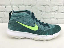 Nike Flyknit Chukka 819009-300 Mens Teal Turquoise Spikeless Golf Shoes Size 9
