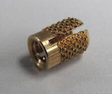 50 OFF M4 SOLID BRASS INSERTS 4MM PUSH IN FOR PLASTIC COLD INSTALL FREE UK P&P