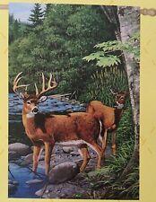 """New listing White Tail Deer Garden Flag - 29"""" X 43"""" New Wildlife Decor - Great Gift!"""