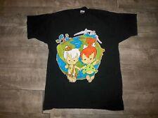 Vintage Hanna-Barbera Flintstones Bam Bam Pebbles Made in USA T-shirt Tee Mens L