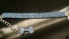 PETFAVORITES™ Couture Designer Fancy 3 Rows Rhinestones Pet Cat Dog Collar #44O