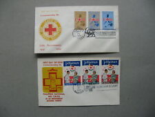 PHILIPPINES, 2x cover FDC 1969/72, Red Cross