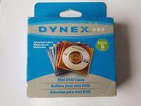 Dynex 5 Assorted color Mini DVD plastic cases