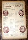 Pedro le bandit partition chant 1910 Coppini