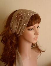 Head Scarf , Long Hair Scarf, Elegant Head Tie, Embroidered Headband, Hair Band
