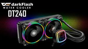 DARKFLASH DT-240 RGB CPU WATERCOOLER 240mm Liquid cooler INTEL AMD AIO