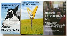 Fargo Rock City Killing Yourself to Live IV Chuck Klosterman Hardcover Book Lot