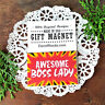 Appreciation Magnet AWESOME BOSS LADY Gift Magnetic Fun Office Decor Cubicle USA