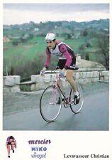CYCLISME carte cycliste CHRISTIAN LEVAVASSEUR équipe MERCIER MIKO Vivagel 1979