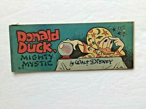 "DONALD  DUCK "" mighty mystic "" - 1951 WHEATIES comic book by WALT DISNEY"