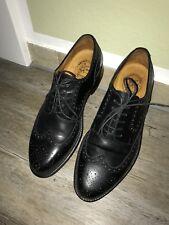 Prime Shoes LINZ Gr. 42,5 Rahmengenäht schwarz Budapester Business Herrenschuhe