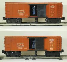LOT OF 2 - POST-WAR LIONEL No. X3464 NEW YORK CENTRAL OPERATING BOXCARS (1952)