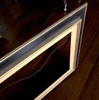 "Black Gold Picture Frame Wood 39"" Vtg Reverse Shadowbox Swedish Mid Century Mod"