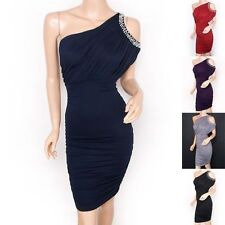 Wiggle, Pencil Party One Shoulder Regular Dresses for Women