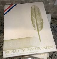 """Vintage: NEENAH """"Typewriter"""" PAPER Hawthorne Rust 1-20U"""