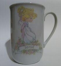 "Precious Moments ""Sister"" Coffee Cup Mug Enesco Corp. Samuel J Butcher 1989"